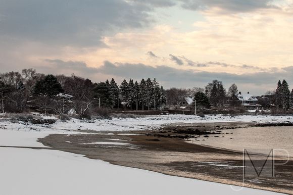 Niles Beach in winter