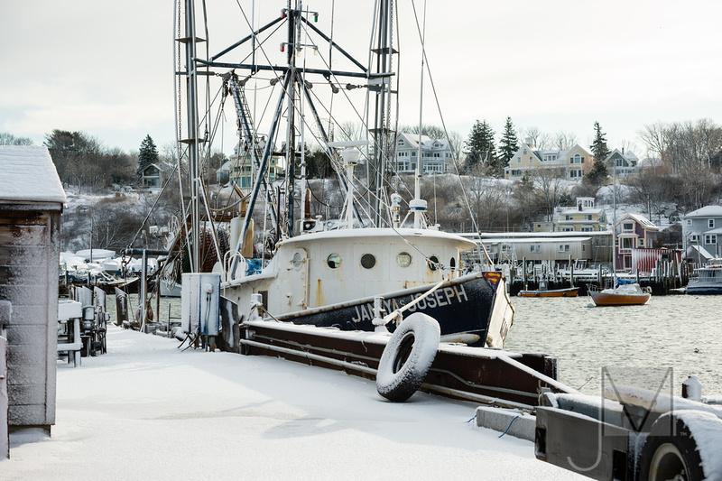 snowed in boat