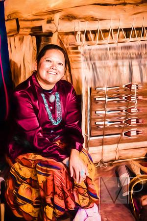 Young Navajo weaver.