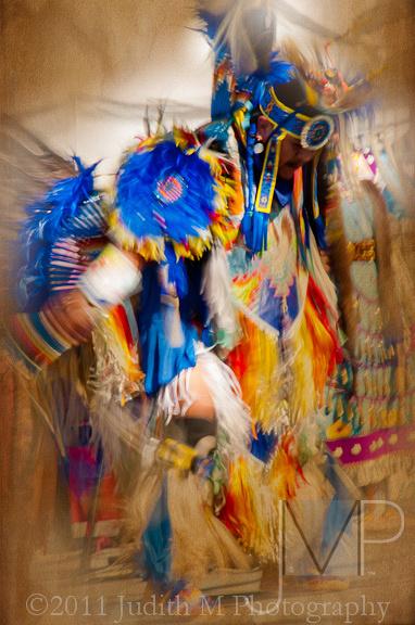 indian dancing during pow wow