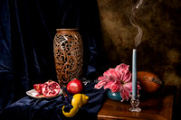 Pomegrante with Candle Snuffed