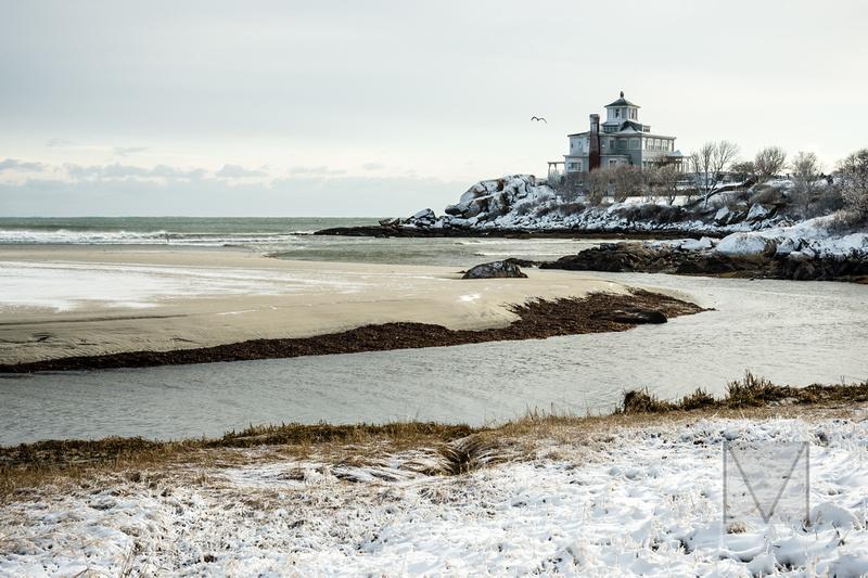 Good Harbor beach in the snow