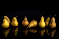 Pears on Black