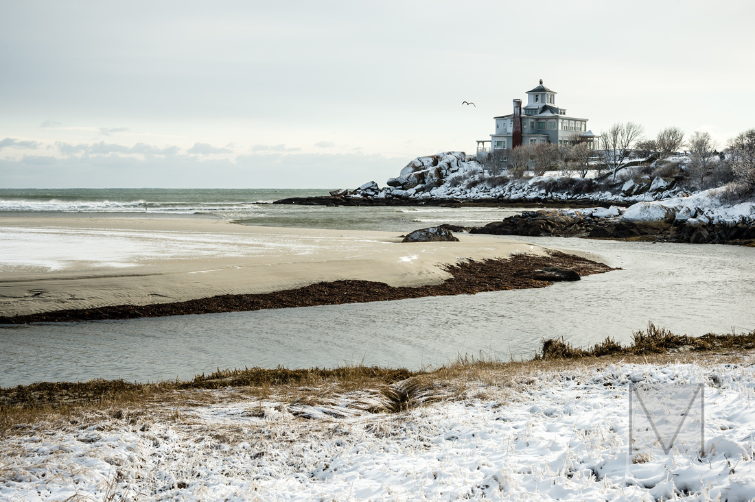 Good Harbor beach in the snow