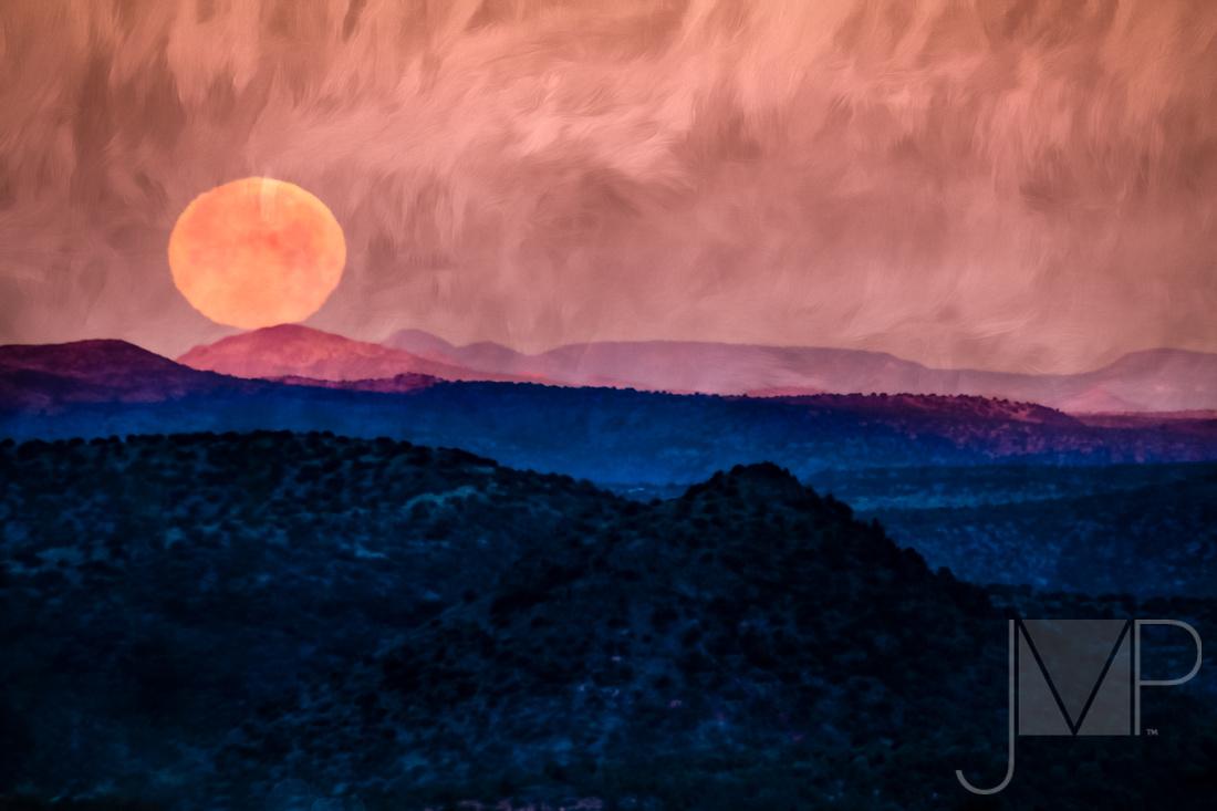Moon set over Sedona