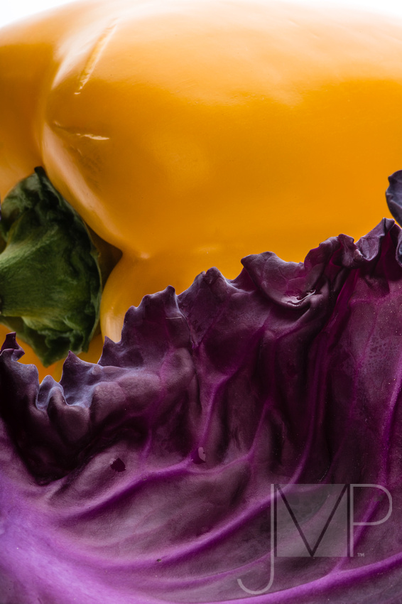 cabbage and pepper abstract